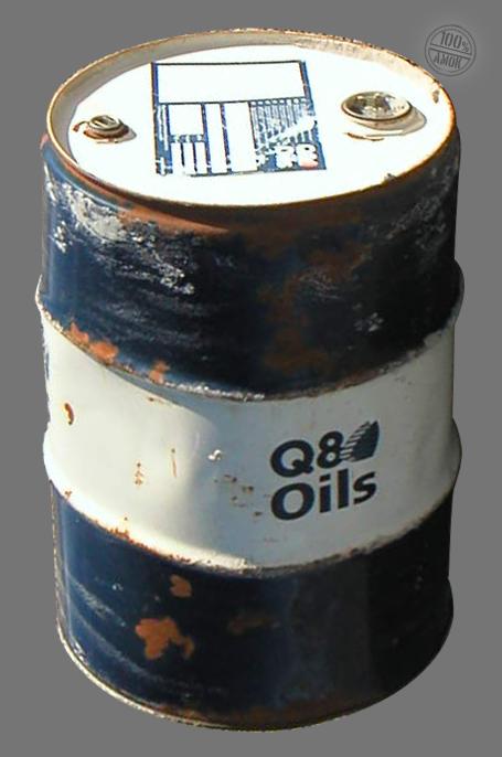 leeres Ölfass vom Schrottplatz