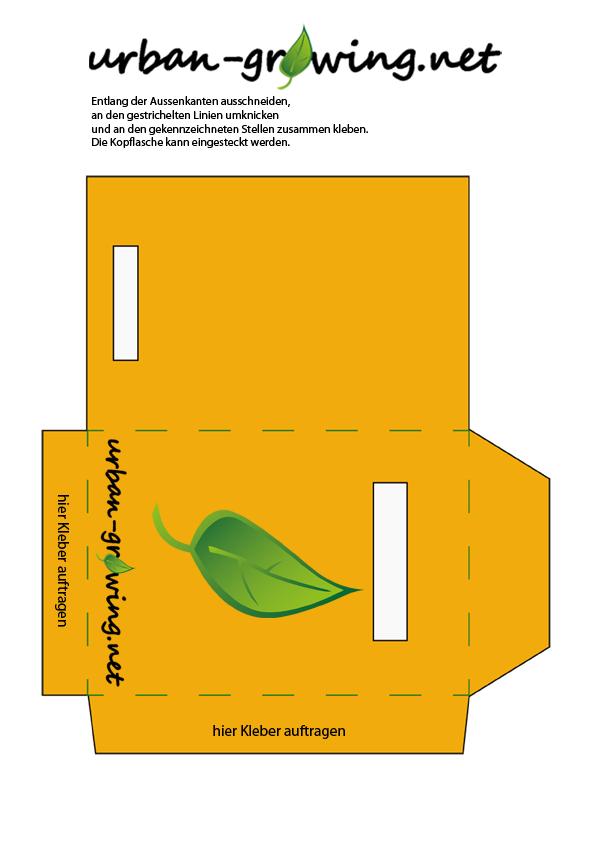 Samentütchen für eigene Samen zum Ausdrucken und Ausschneiden mit Beschriftungsfeldern vorne für die Art und hinten für das Erntedatum