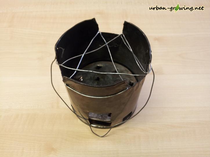 Hofoofen aus einer Konservendose selbst gebaut im Test - www.urban-growing.net