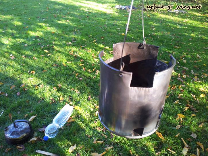 Hobo Ofen im Einsatz - www.urban-growing.net