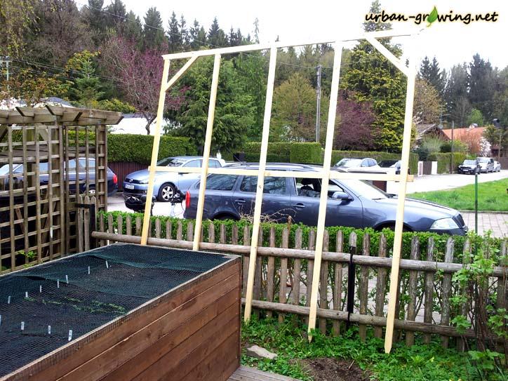 Klettergerüst Selbst Gebaut : Bohnenspalier selbst gebaut rankhilfe bauen