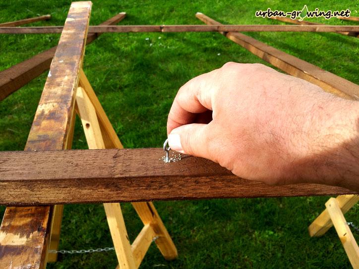 Bohnenspalier - Rankhilfe selbst bauen - www.urban-growing.net