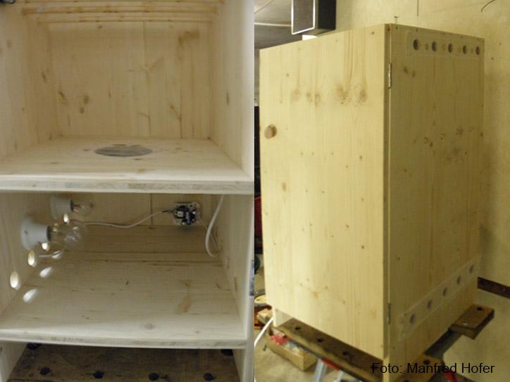 Biltong box, Dörrschank, Lederfleisch, www.urban-growing.net copyright Manfred Hofer