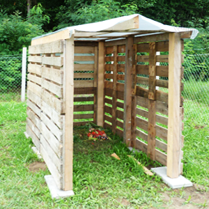 Kompostkasten aus Europaletten selbst bauenGartentipps