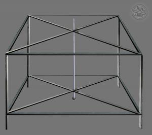 Rahmenkonstruktion mit zentral gelagerter Achse