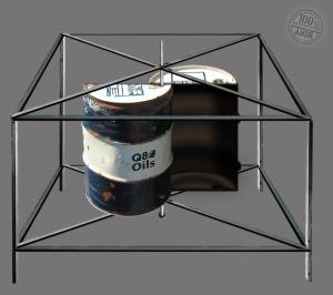 Rahmen mit eingebauten Fasshälften
