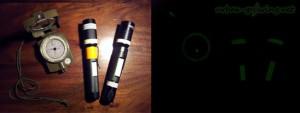 Nachtleuchtender Kompass und 3W LED Lampen fluoreszierend - Notfallausrüstung Überleben in Krisensituationen - www.urban-growing.net
