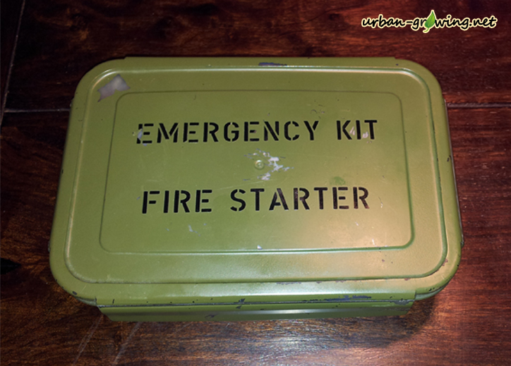 emergency kit - fire starter set - www.urban-growing.net