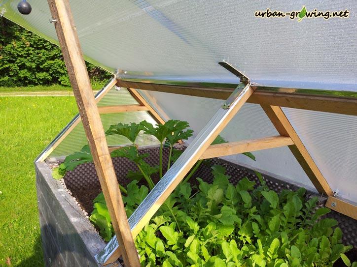 Atemberaubend Hochbeetdach | Dach für Hochbeet | Hochbeetwetterschutz &YI_65
