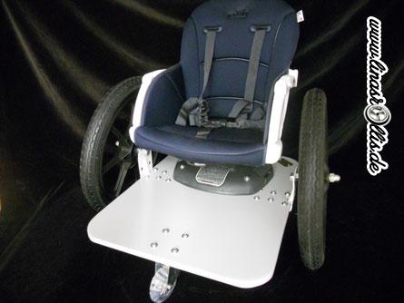 Noch eine Sonderanfertigung eines Mini Rollstuhls für Kleinkinder