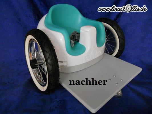 Und so sieht der neue Minirollstuhl für Kleinkinder aus