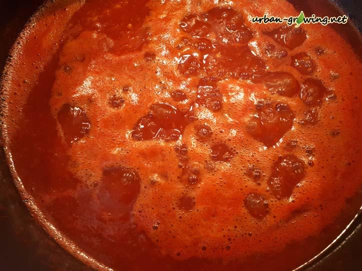 Chili Sauce selber machen - www. urban-growing.net - copyright Volker Truckenmüller