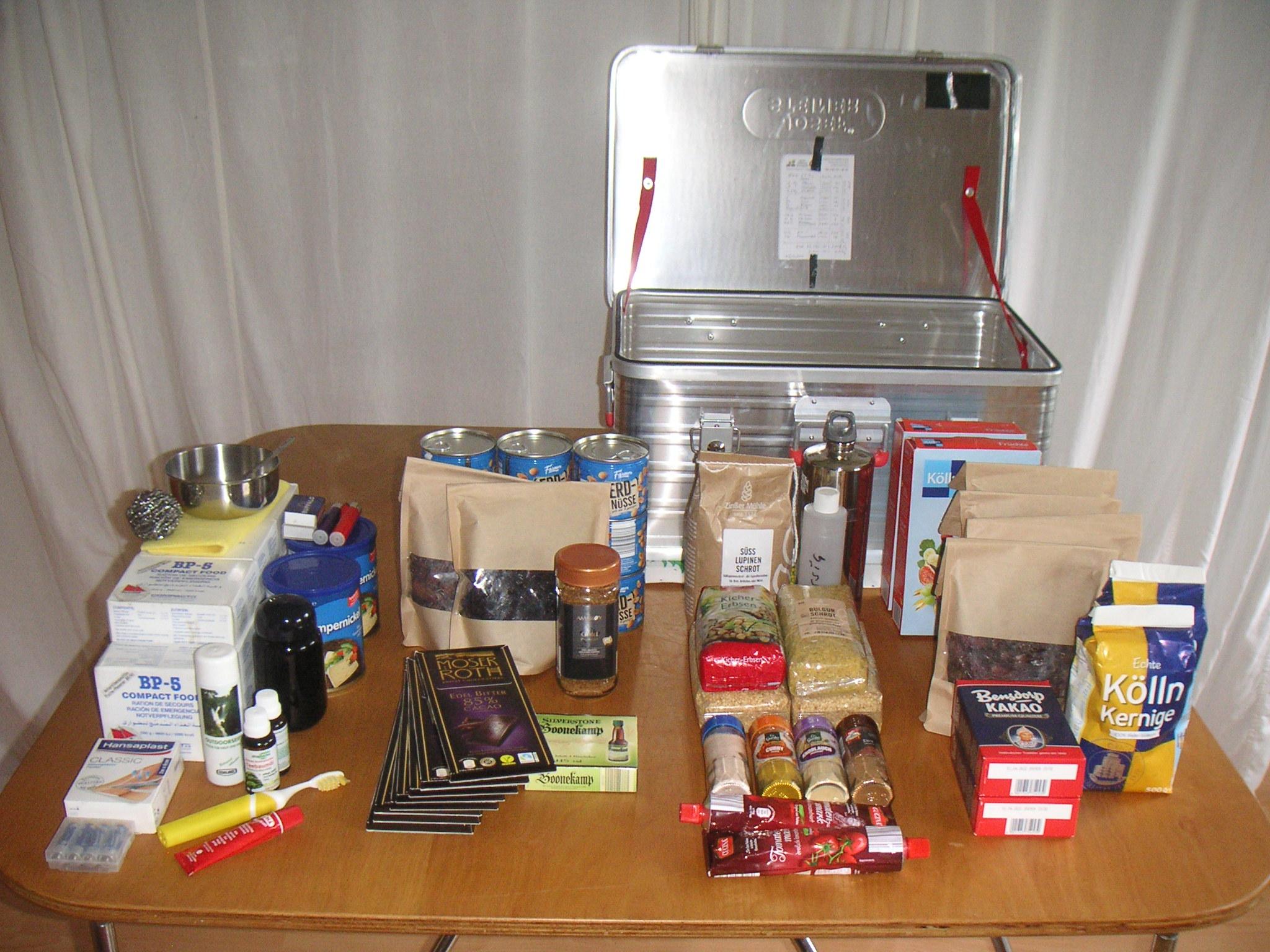 Vegane Notversorgung, Notfall Kiste